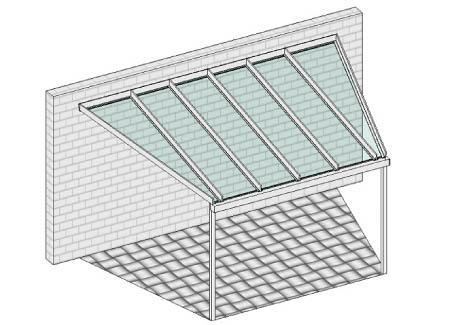 Pultdach mit abgeschrägten Seiten